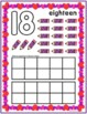 Valentine Counting Play Dough Mats 0-10