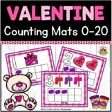 Valentine Play Dough Counting Mats 0-10