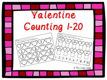 Valentine Counting Practice- 1-20