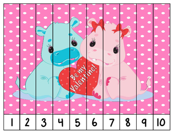Valentine Counting Puzzles