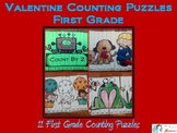 Valentine Counting Puzzles First Grade
