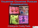 Valentine Counting Puzzles Kindergarten