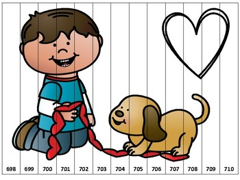 Valentine Counting Puzzles Second Grade