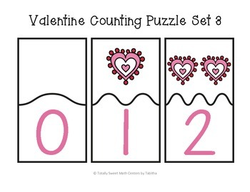 Valentine Counting Self-Checking Puzzles