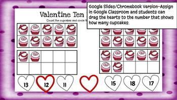 Valentine Counting Sets-A Digital Math Center (Compatible with Google Apps)
