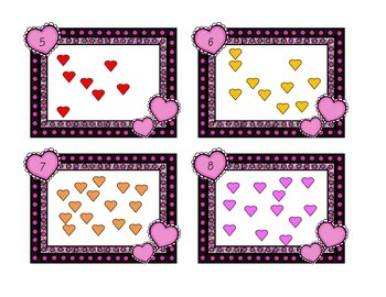 Valentine Counting Task Cards