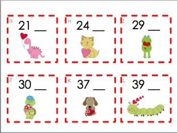 Valentine Counting - What Number Comes Next? {0-50}