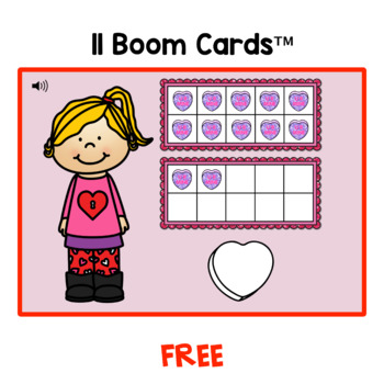 Valentine Counting With Ten Frames 10 - 20 FREE