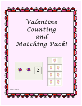 Valentine Counting and Matching Pack