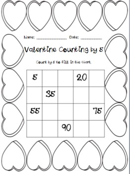 Valentine Counting {by 1, 2, 5, and 10}
