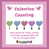 Valentine Math - Counting Sets for PreK