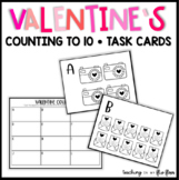 Valentine Counting to 10 Task Cards