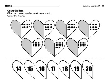 Valentine Counting to 20