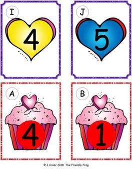 Valentine Counting with 5 Frames Bundle {Subitizing}