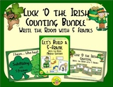 St. Patrick's Day Counting with 5 Frames Bundle {Subitizing}