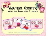 Valentine Counting with 5 Frames {Subitizing}