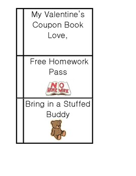 Valentine Coupon Book from Teacher
