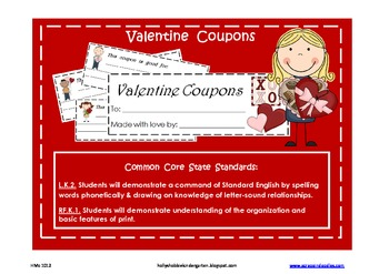 Valentine Coupon Booklet (A writing activity for little writers)