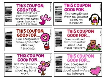 Valentine Coupon Books For Students