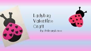 Valentine Craft Ladybug FREEBIE