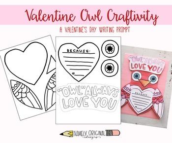 Valentine Craftivity- Owl