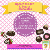 "Valentine Craftivity---""Speech is Like a Box of Chocolates!""{for older students}"