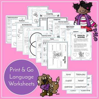 Valentine's Day Speech and Language Activities