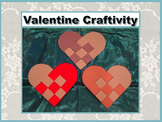 Valentine Craftivity - Woven Pattern Hearts - Print and Go