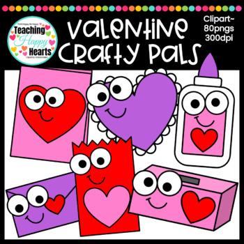 Valentine Crafty Pals Clipart