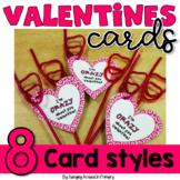 Valentine Crazy Straw Tags - Heart Cards to Celebrate Valentine's Day