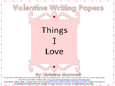 Free! Valentine Writing Papers 3 Grids    Color or Black a