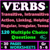 VERBS. Irregular Verbs, Linking Verbs, Action Verbs. 5th-6th Grade ELA Test Prep