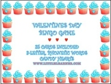 Valentine Cupcake Bingo Cards - 25 in all with 3-Letter Ph
