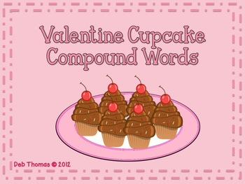 Valentine Cupcake Compound Words