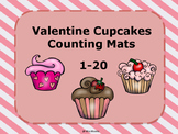 Valentine Cupcake Counting Mats