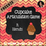 Valentine Cupcake Game - Freebie - R Blends - Reading & Speech Therapy