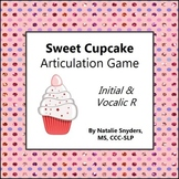 Sweet Cupcake Game for Articulation - R & Vocalic R - Spee