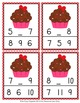 Valentine Cupcake Numbers In Between Clip Cards