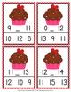 Valentine Cupcake Numbers In Between Clip Cards