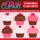 Valentine Cupcakes Clip Art (Digital Use Ok!)