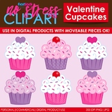 Valentine Cupcakes Clip Art (Digital Use Ok!)
