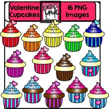 Valentine Cupcakes Clipart