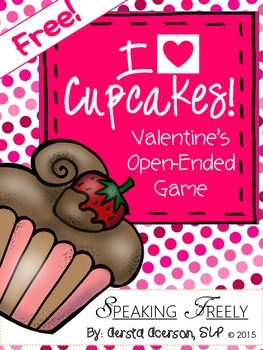 Valentine Cupcakes Open-Ended Game