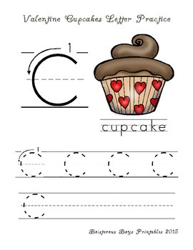 Valentine Cupcakes PreK Printable Mini Pack
