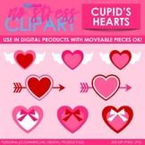 Valentine Cupid's Hearts Clip Art (Digital Use Ok!)