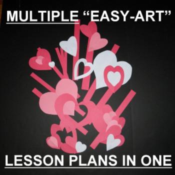 Valentine Cut Paper Craftivity-Multiple Lesson Plans