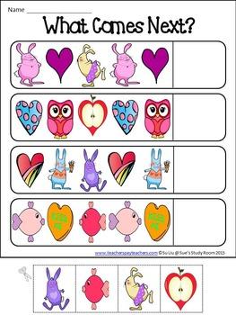 Valentine Math and Literacy for PreK & K