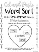 Valentine Cut and Paste Word Sort--220 Dolch Words Packet Compilation