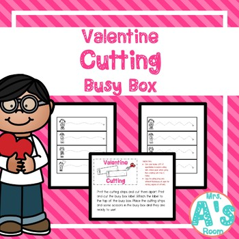 Valentine Cutting Busy Box