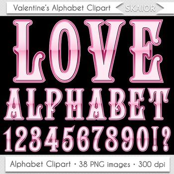 Valentine Day Alphabet Clipart Valentines Alphabet Pink Al